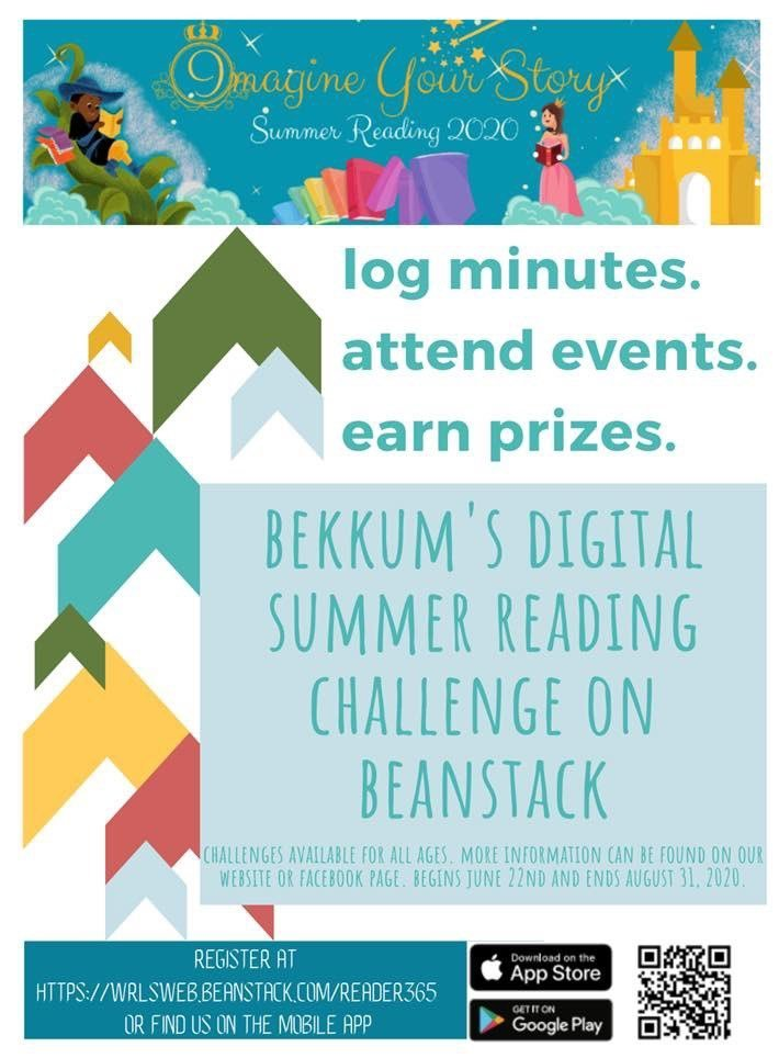 Bekkum Memorial Library Summer Reading Challenges Flyer