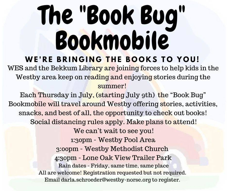 """Book Bug"" Bookmobile flyer"